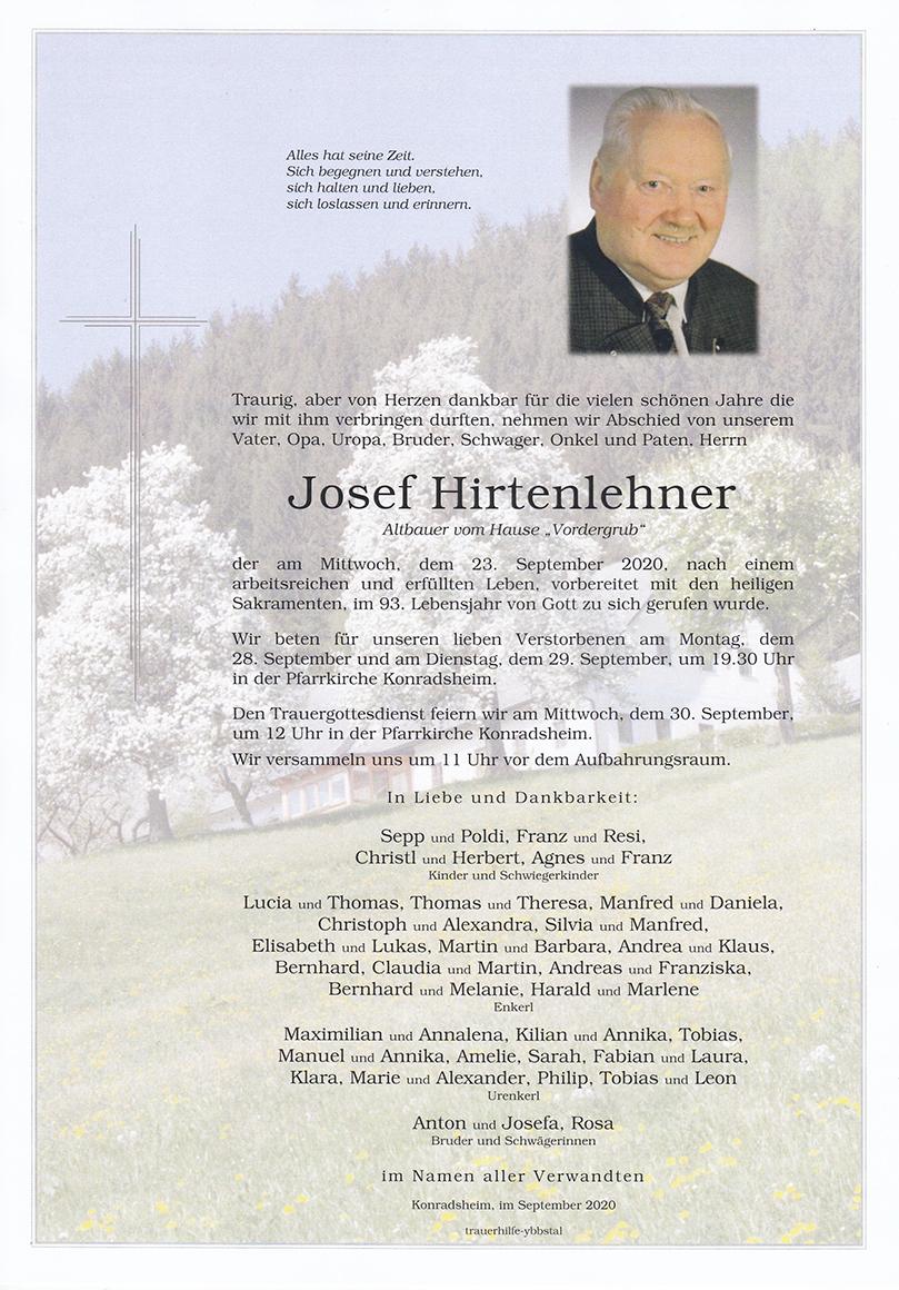 Parte Josef Hirtenlehner