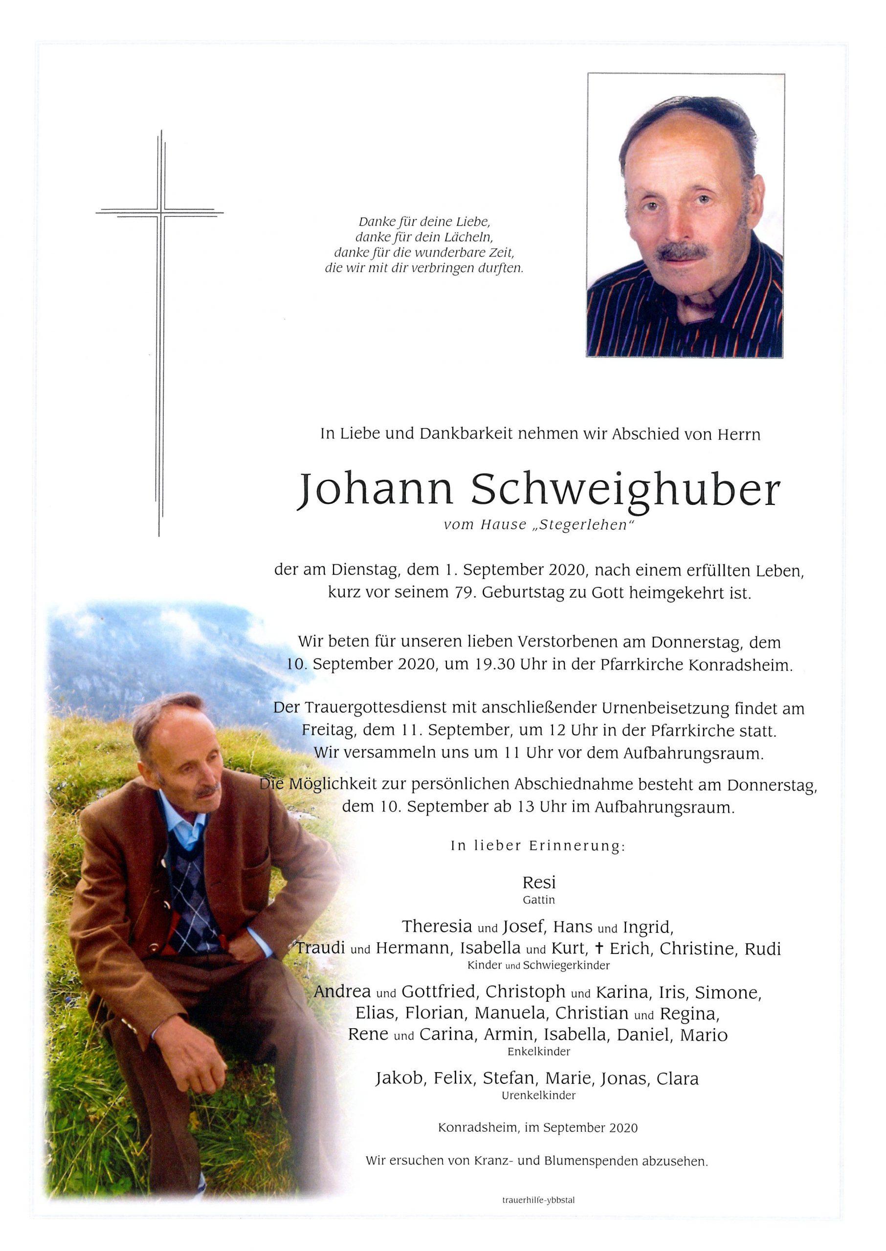 Parte Johann Schweighuber