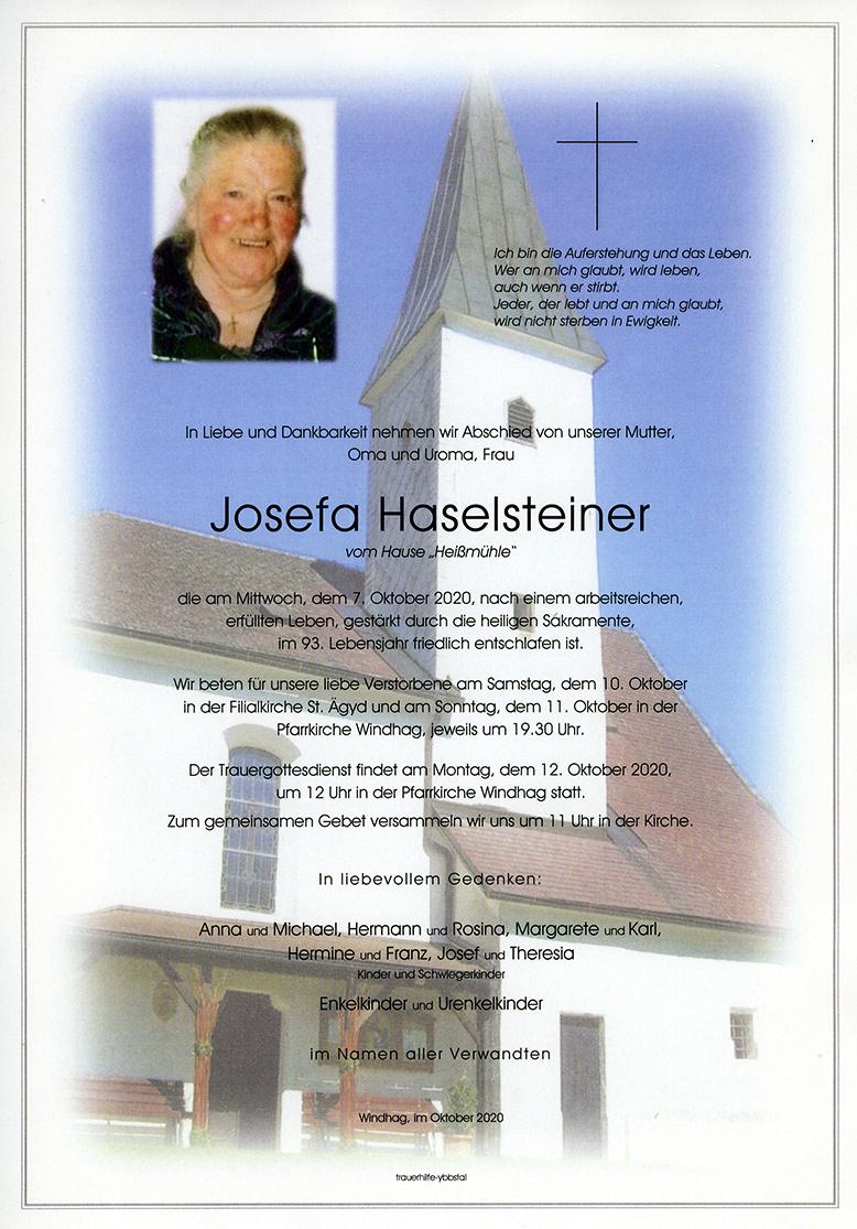 Parte Josefa Haselsteiner