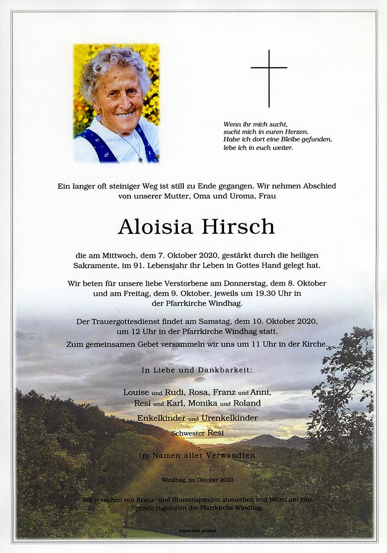 Parte Aloisia Hirsch