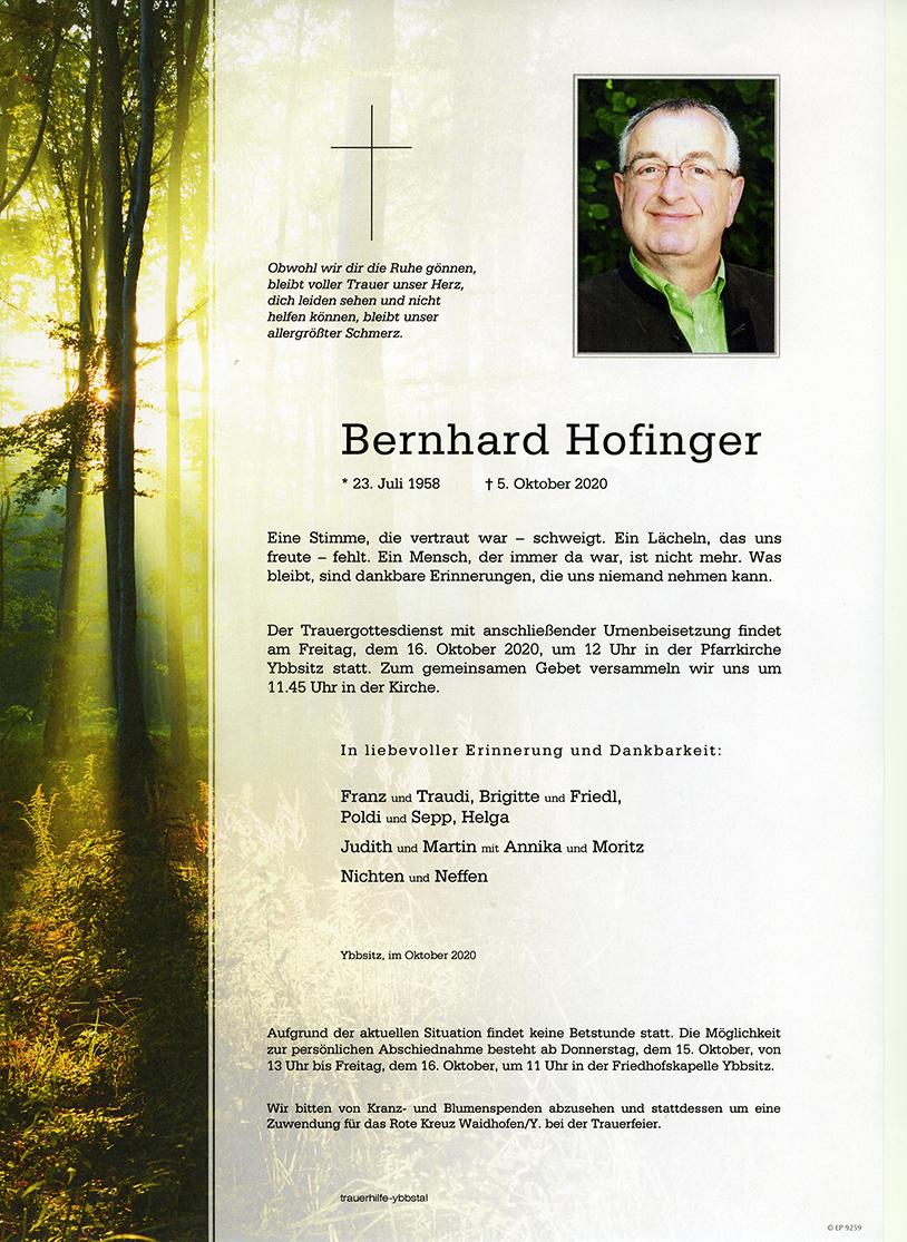Parte Bernhard Hofinger
