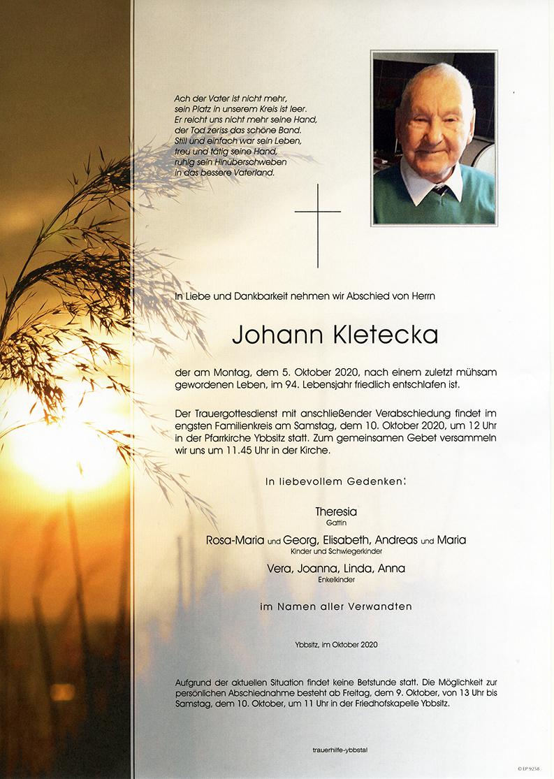 Parte Johann Kletecka
