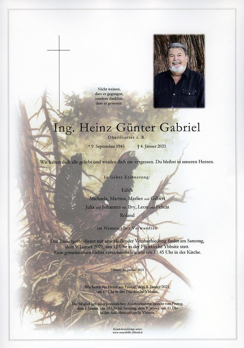 Parte Ing. Heinz Günter Gabriel