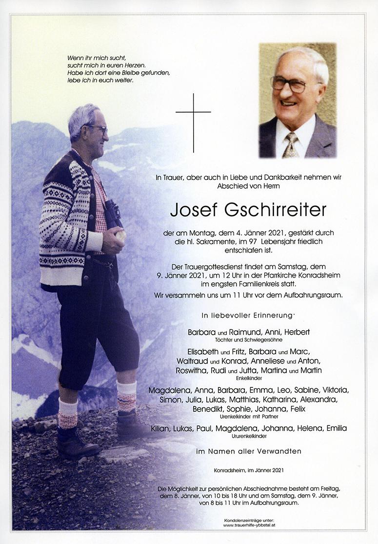 Parte Josef Gschirreiter
