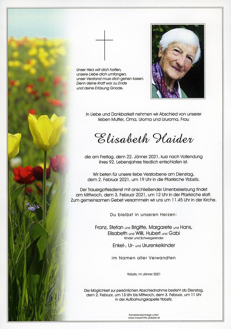 Parte Elisabeth Haider