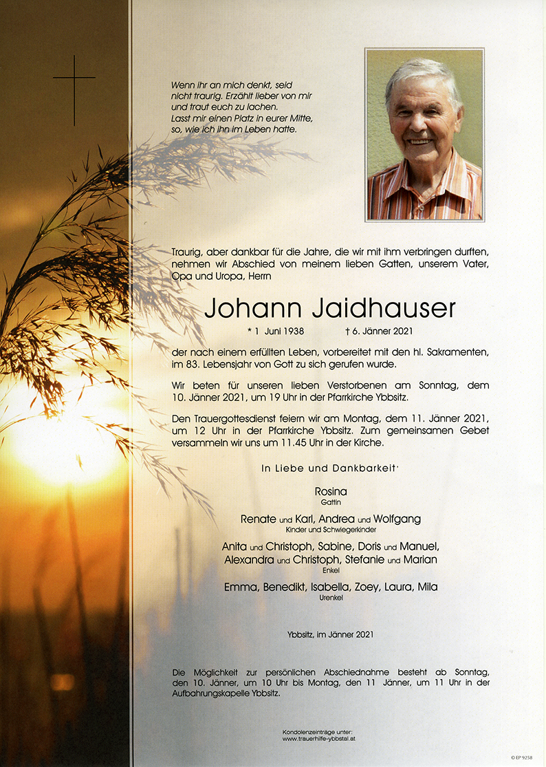 Parte Johann Jaidhauser