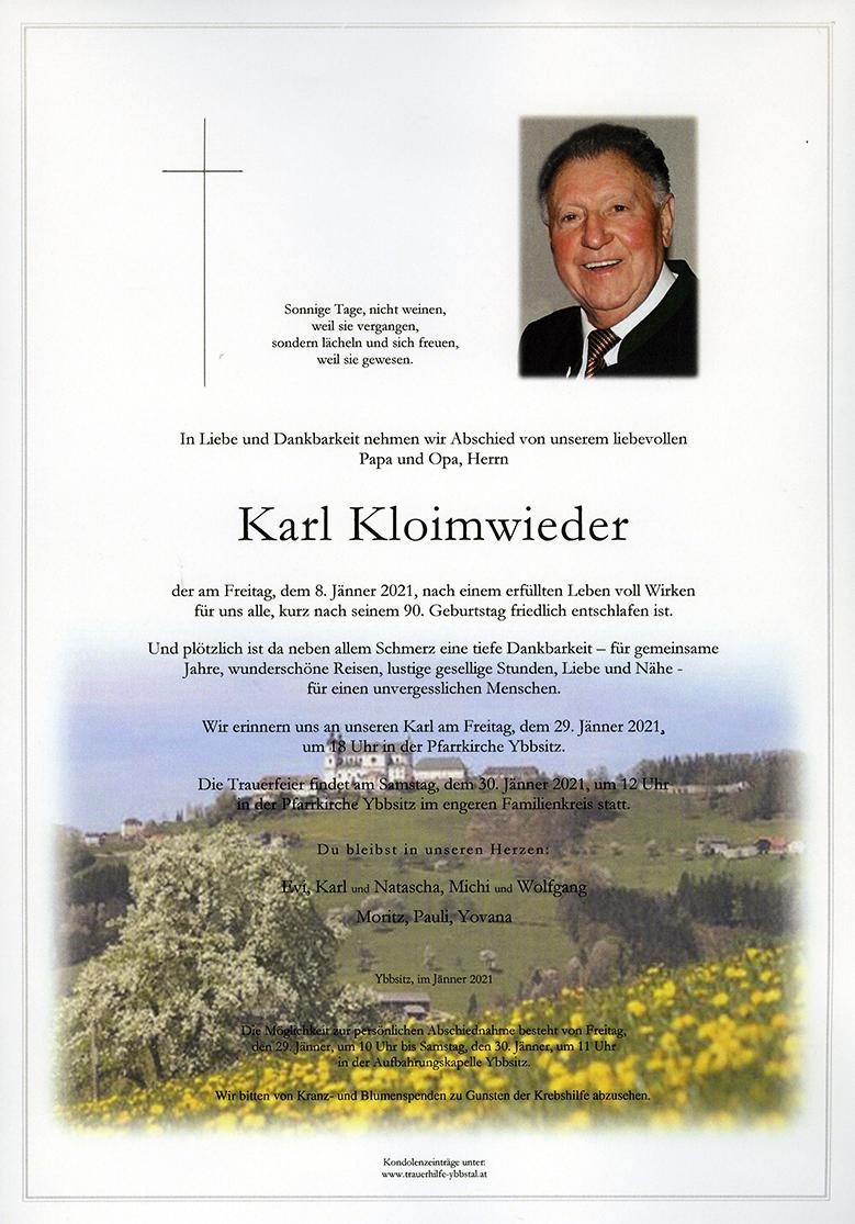 Parte Karl Kloimwieder