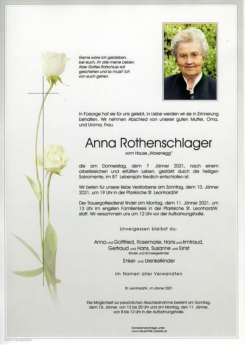 Parte Anna Rothenschlager