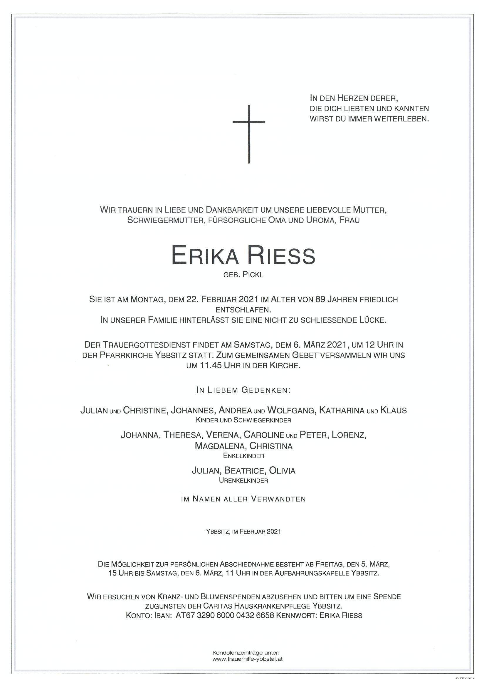 Parte Erika Riess