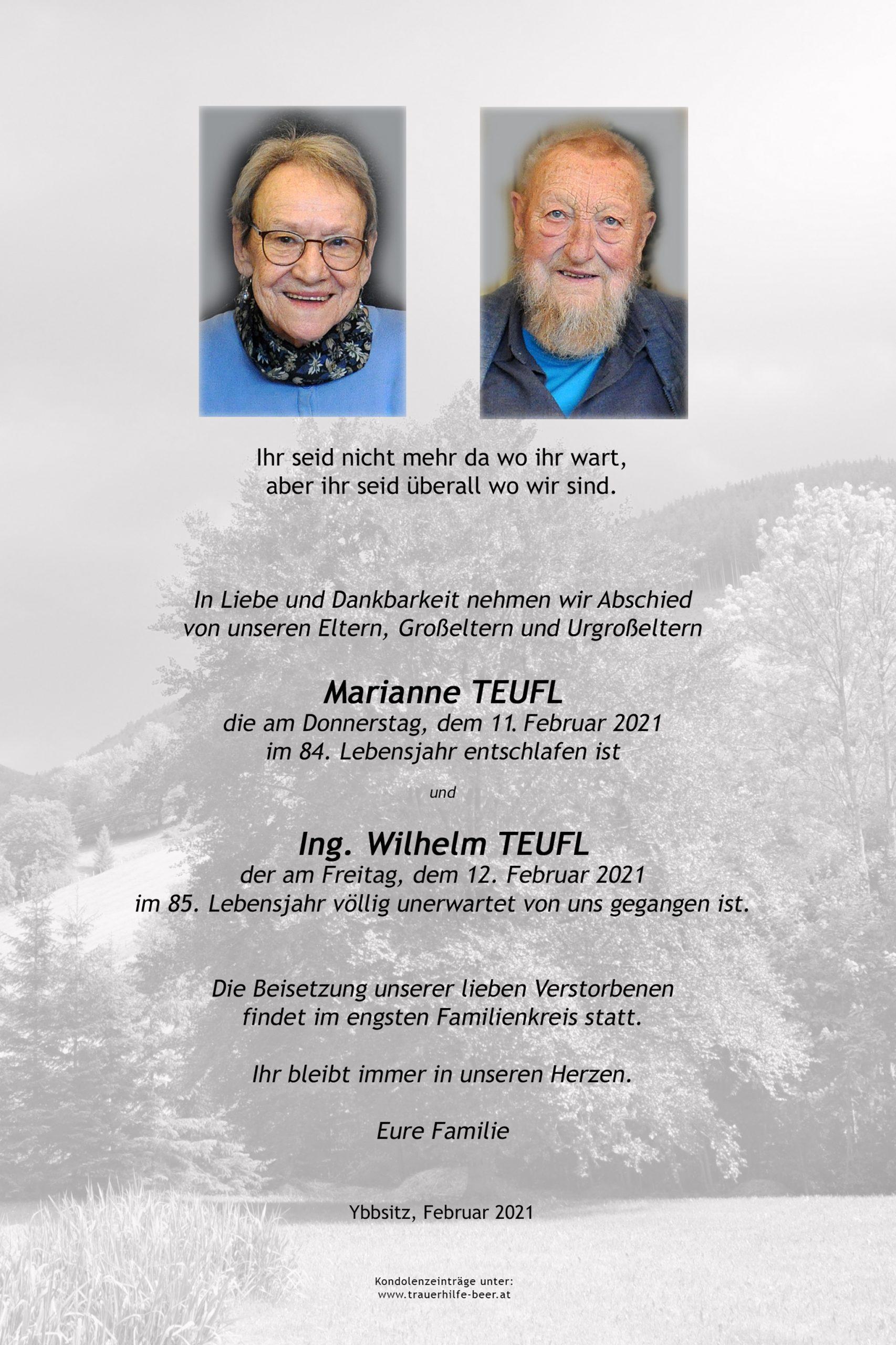 Parte Marianne und Ing. Wilhelm Teufl