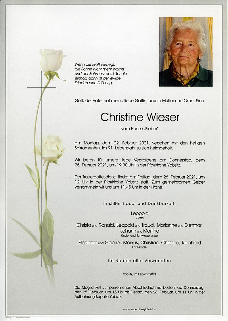Parte Christine Wieser