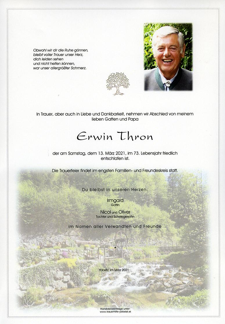 Parte Erwin Thron