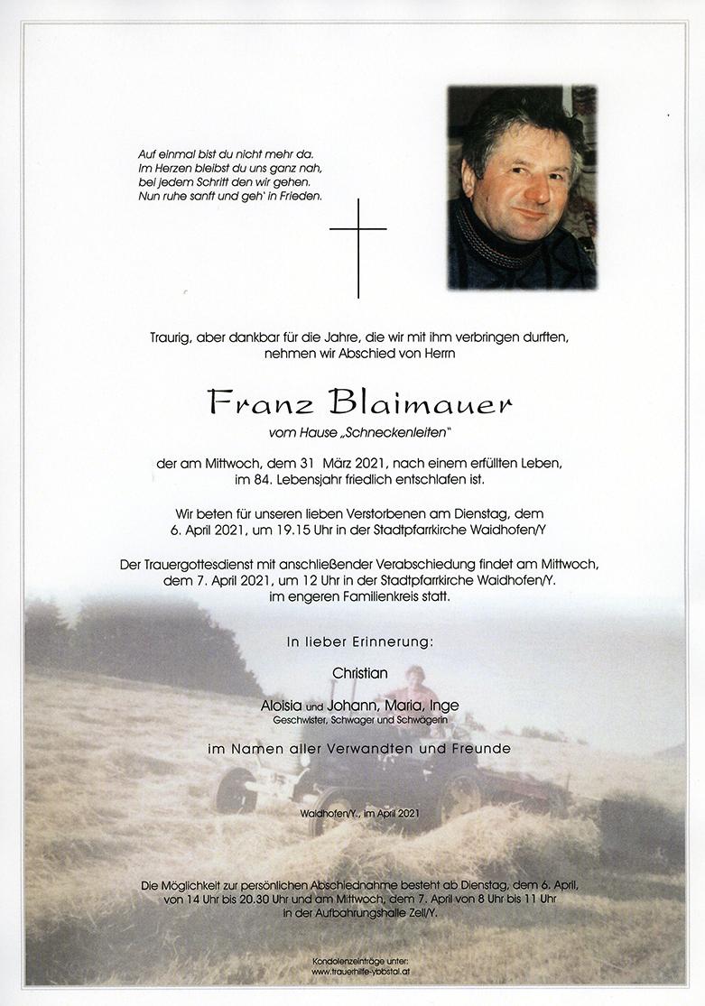 Parte Franz Blaimauer