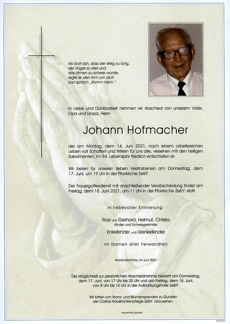 Parte Johann Hofmacher