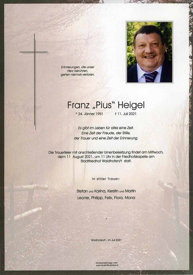 """Parte Franz """"Pius"""" Heigel"""