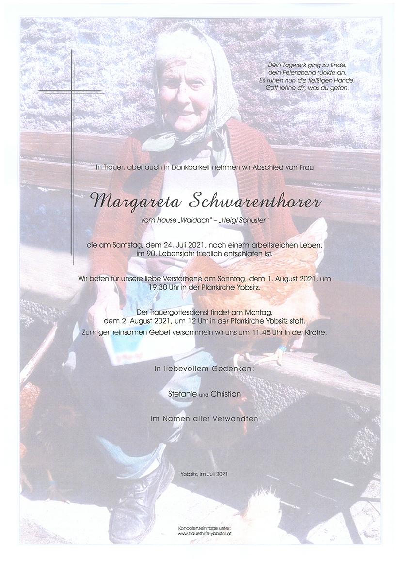 Parte Margareta Schwarenthorer