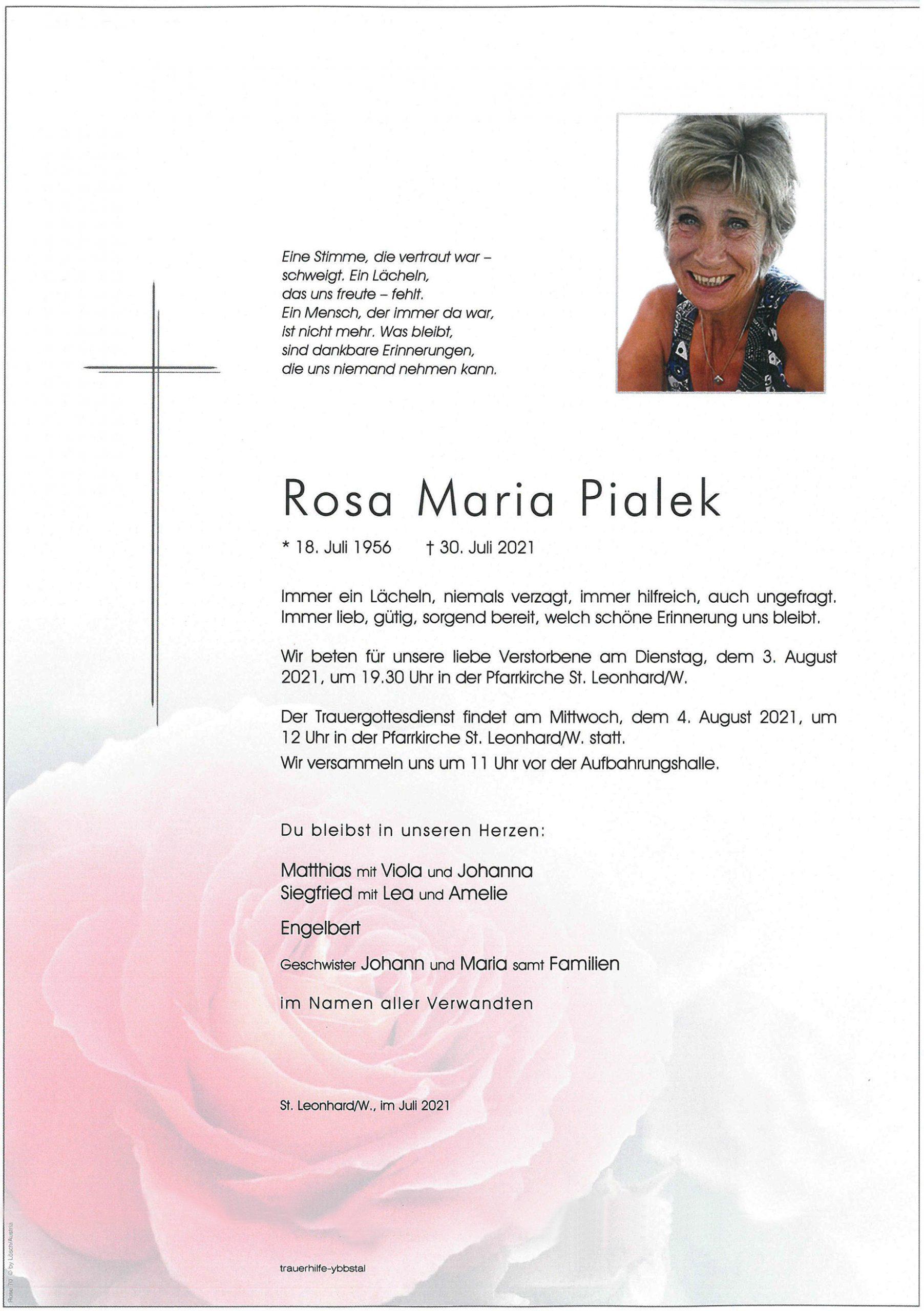 Parte Rosa Maria Pialek