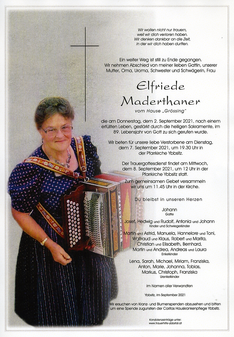 Parte Elfriede Maderthaner
