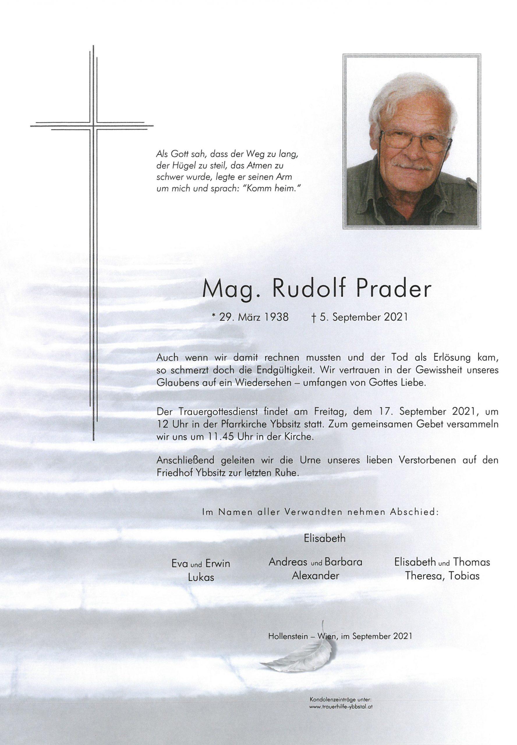 Parte Mag. Rudolf Prader