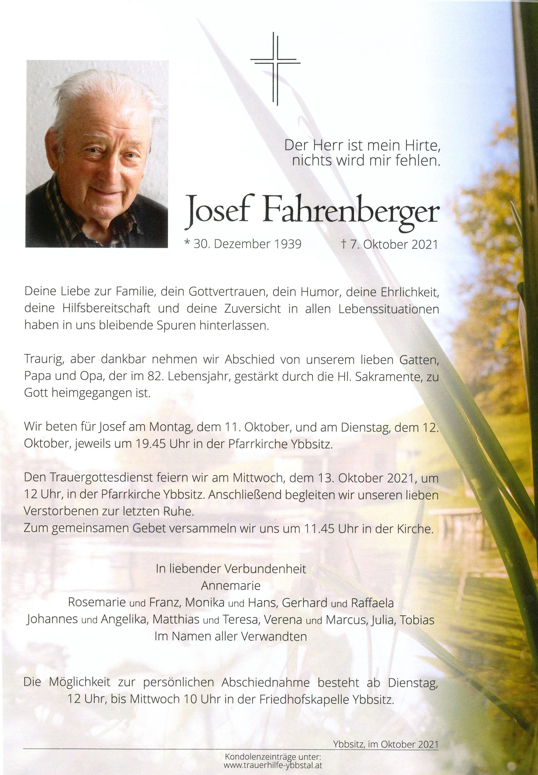 Parte Josef Fahrenberger