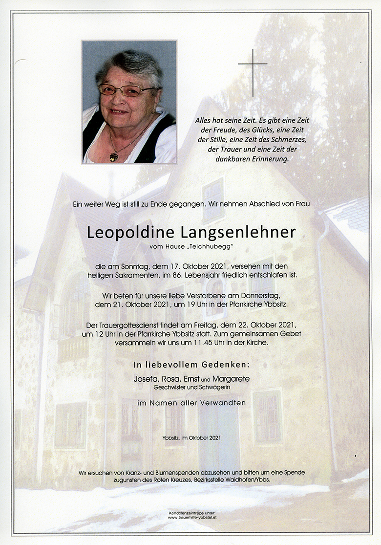 Parte Leopoldine Langsenlehner