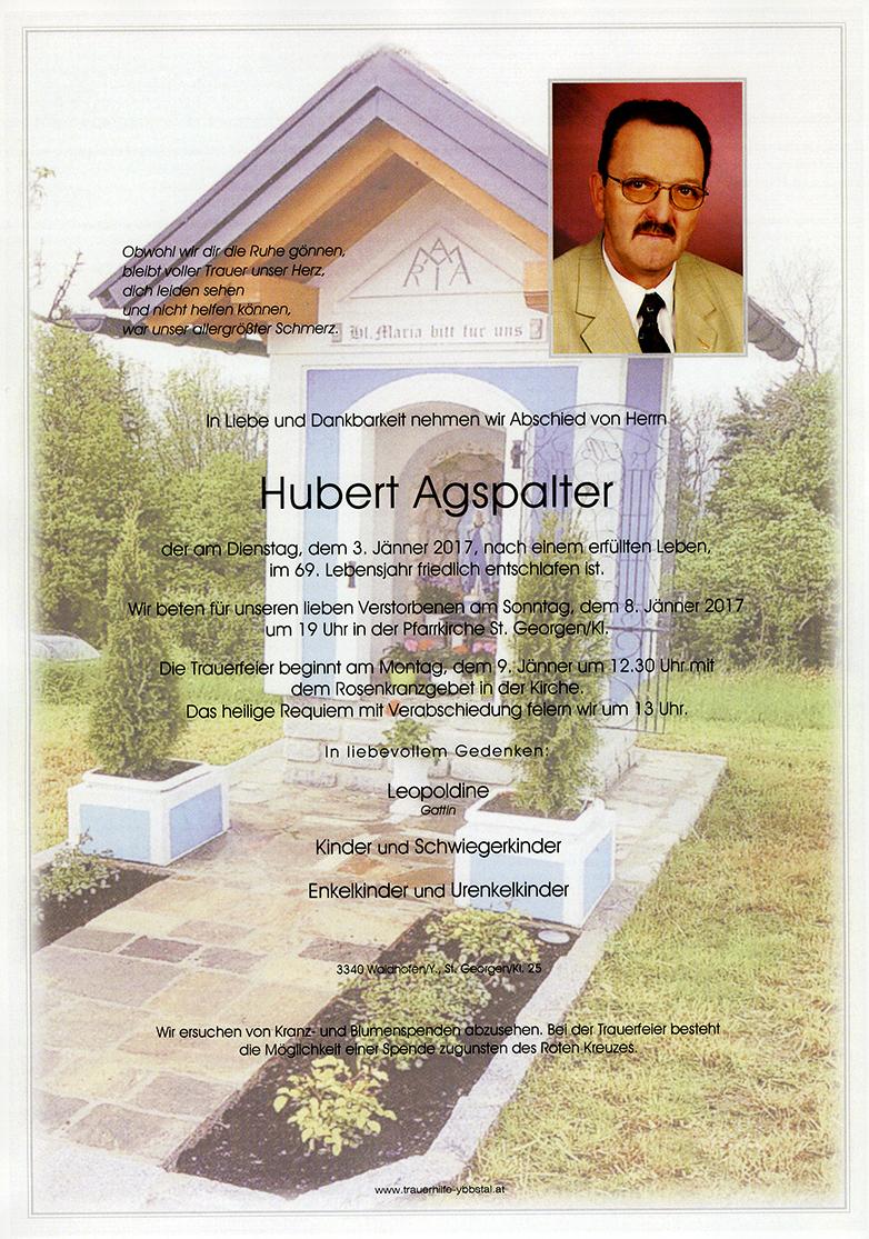 Parte Hubert Agspalter