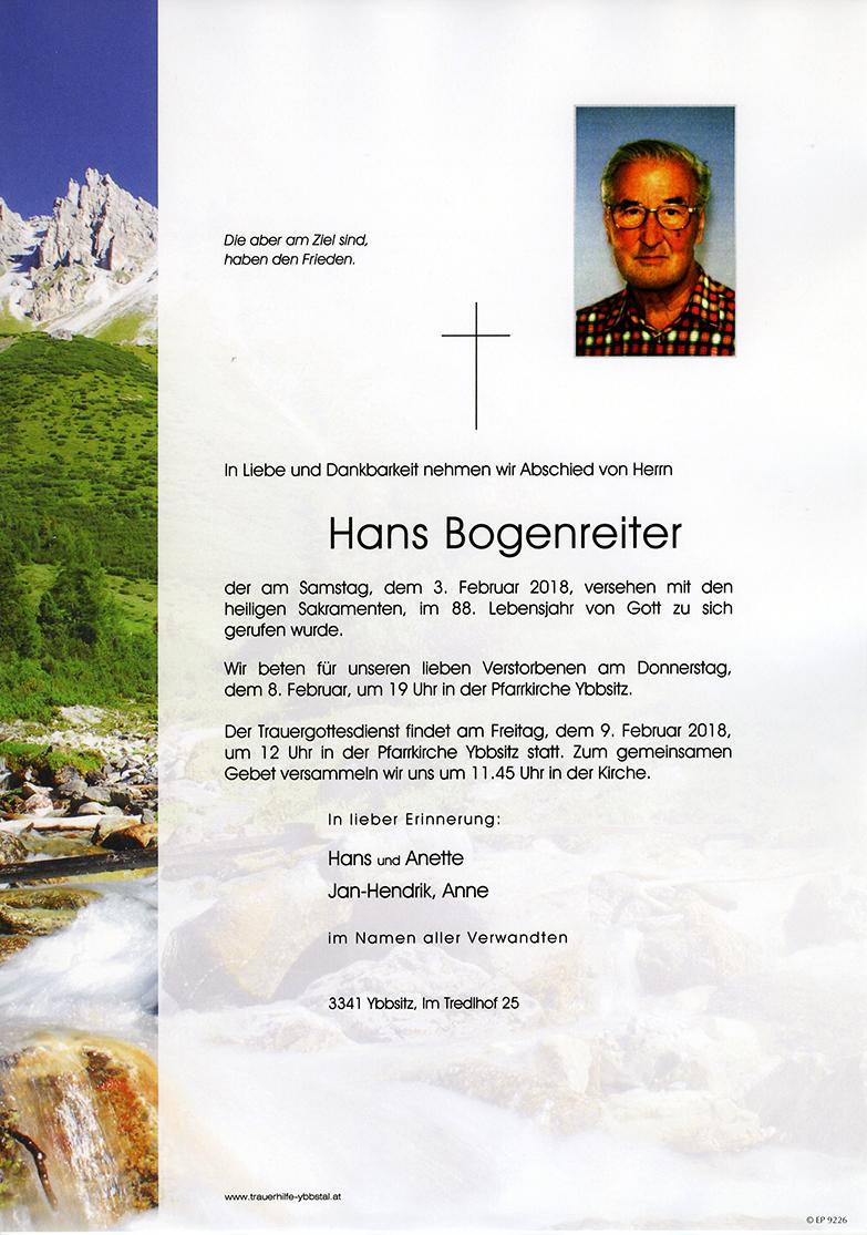 Parte Hans Bogenreiter
