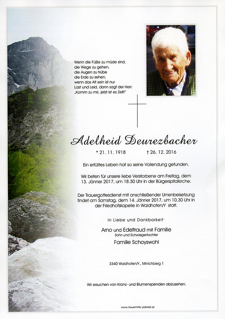 Parte Adelheid Deurezbacher