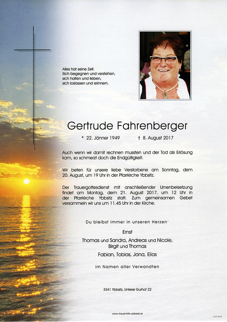 Parte Gertrude Fahrenberger