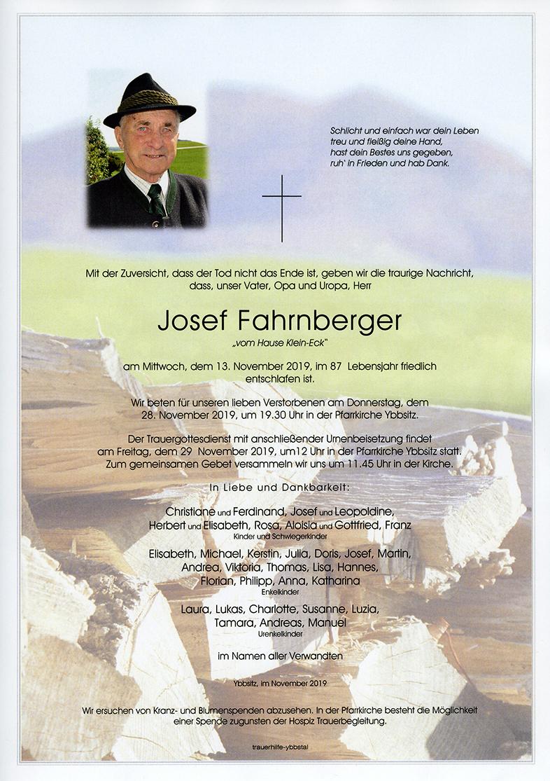 Parte Josef Fahrnberger