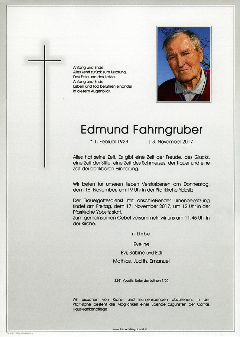 Parte Edmund Fahrngruber