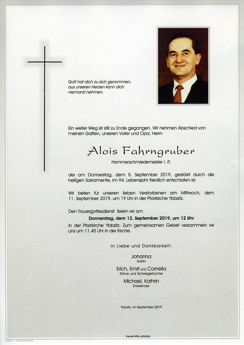 Parte Alois Fahrngruber