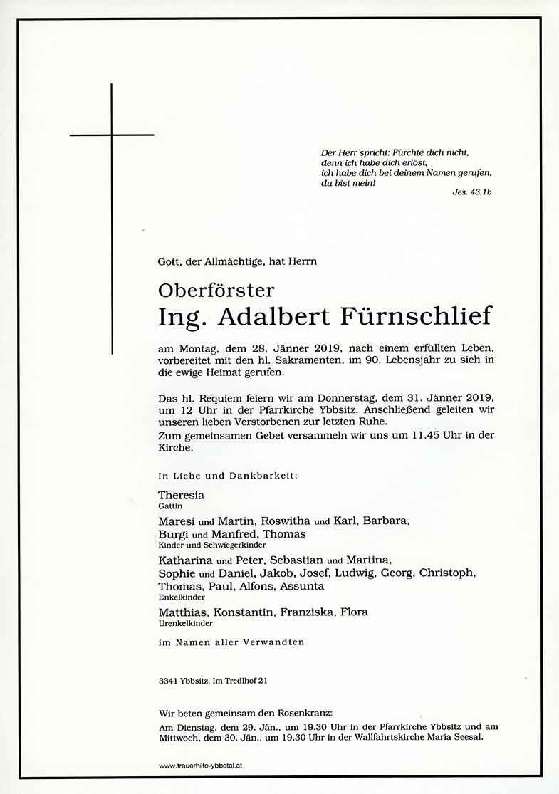 Parte Ing. Adalbert Fürnschlief