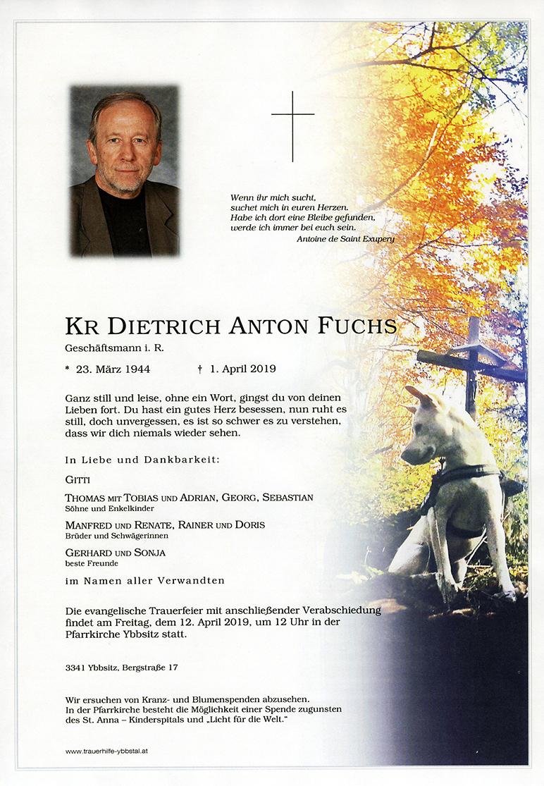 Parte KR Dietrich Anton Fuchs