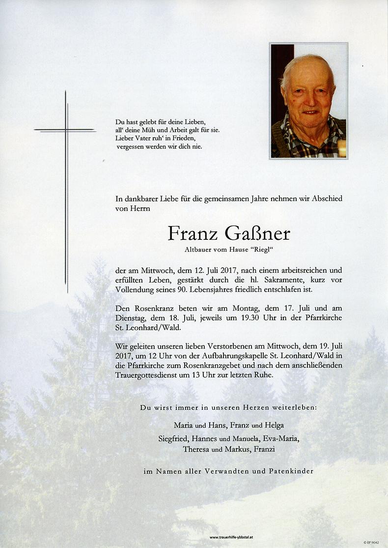 Parte Franz Gaßner