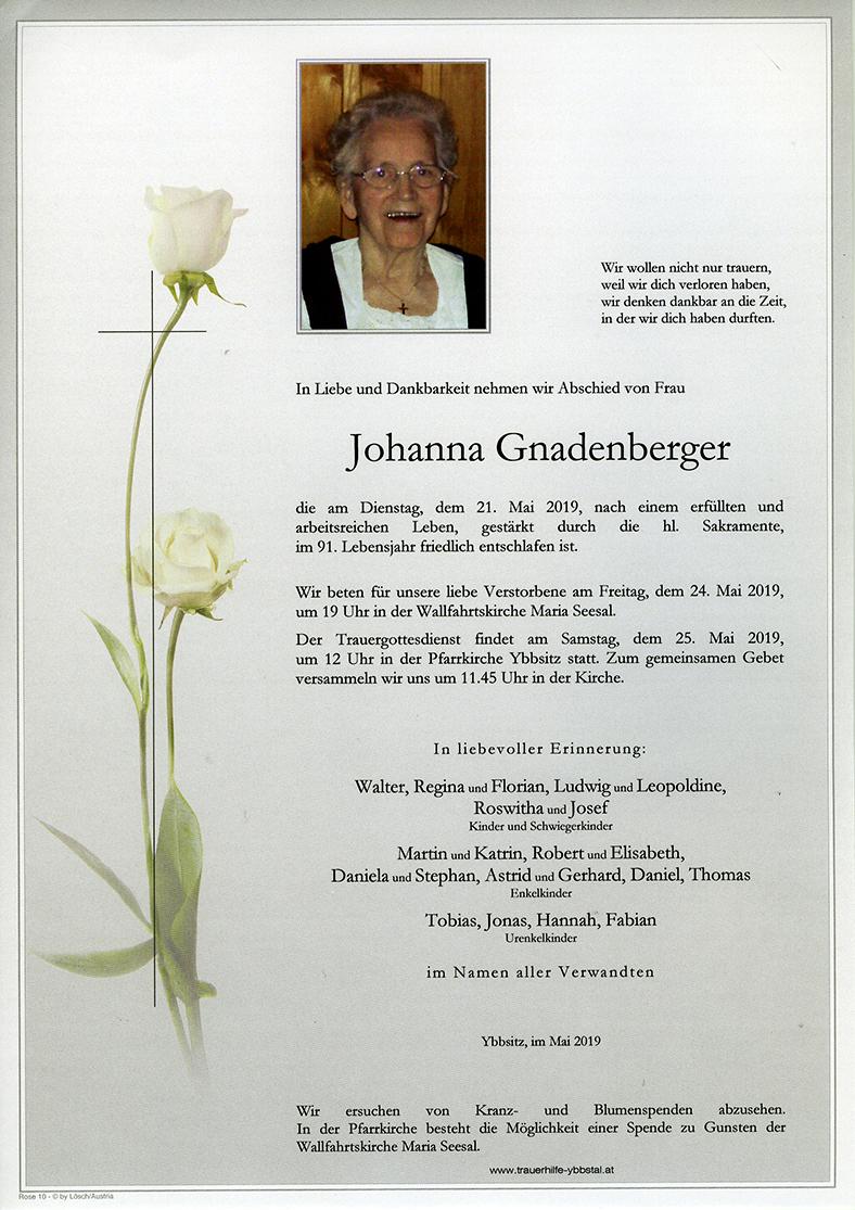 Parte Johanna Gnadenberger