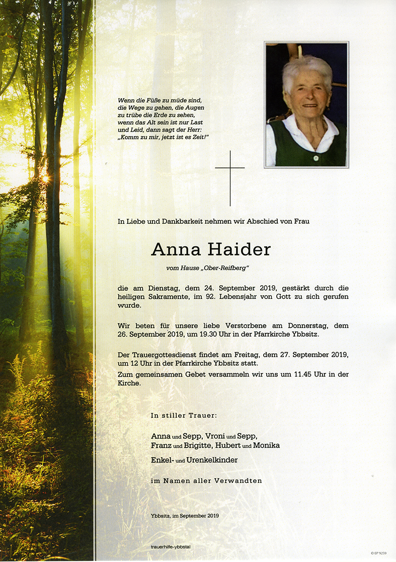 Parte Anna Haider