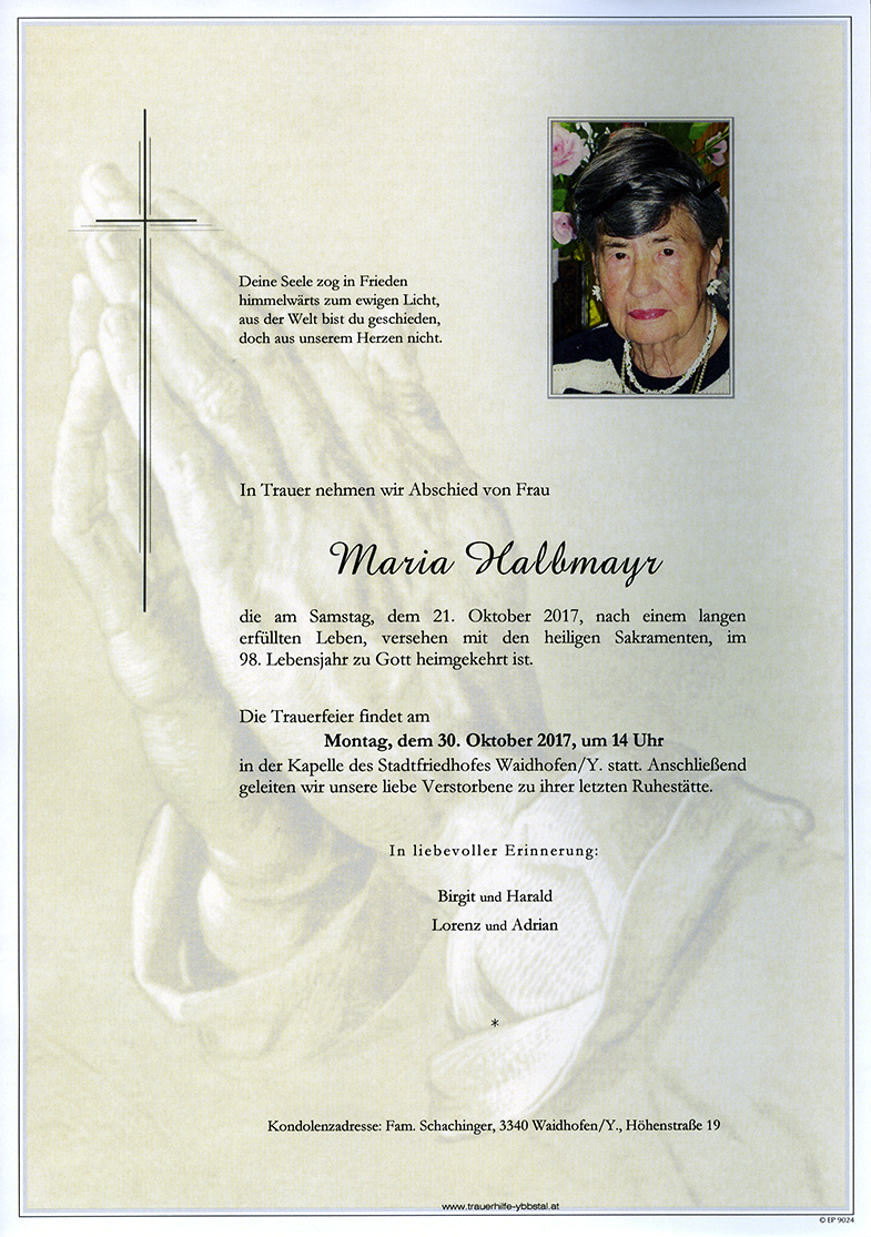 Parte Maria Halbmayr