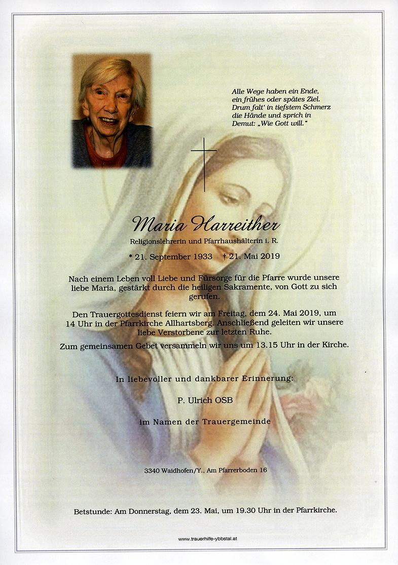 Parte Maria Harreither