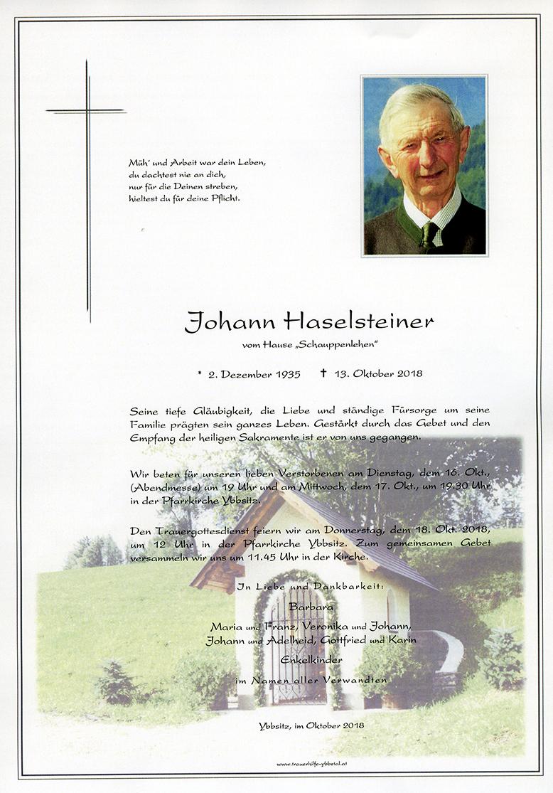 Parte Johann Haselsteiner