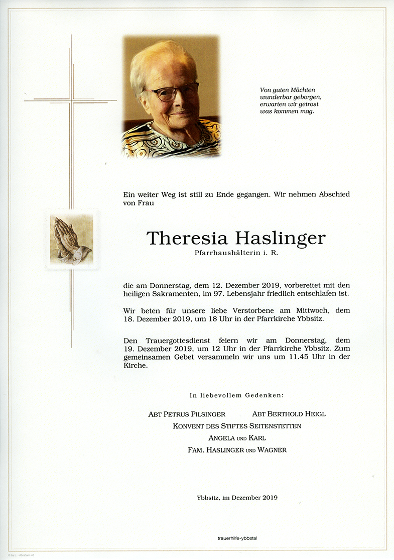 Parte Theresia Haslinger