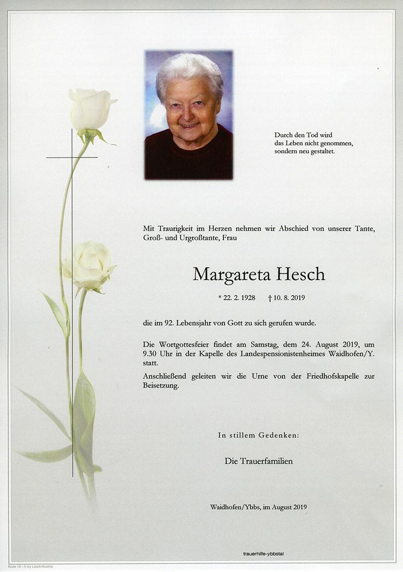 Parte Margareta Hesch