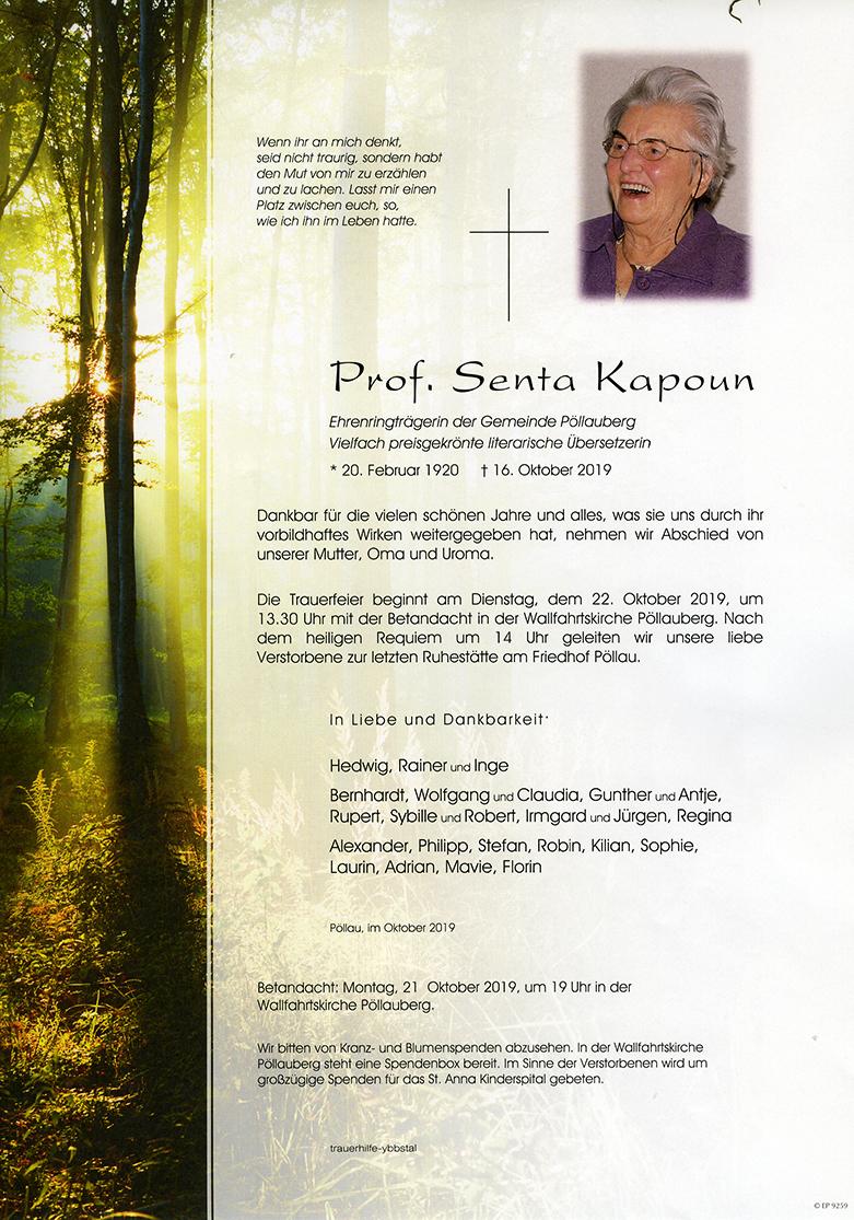 Parte Prof. Senta Kapoun