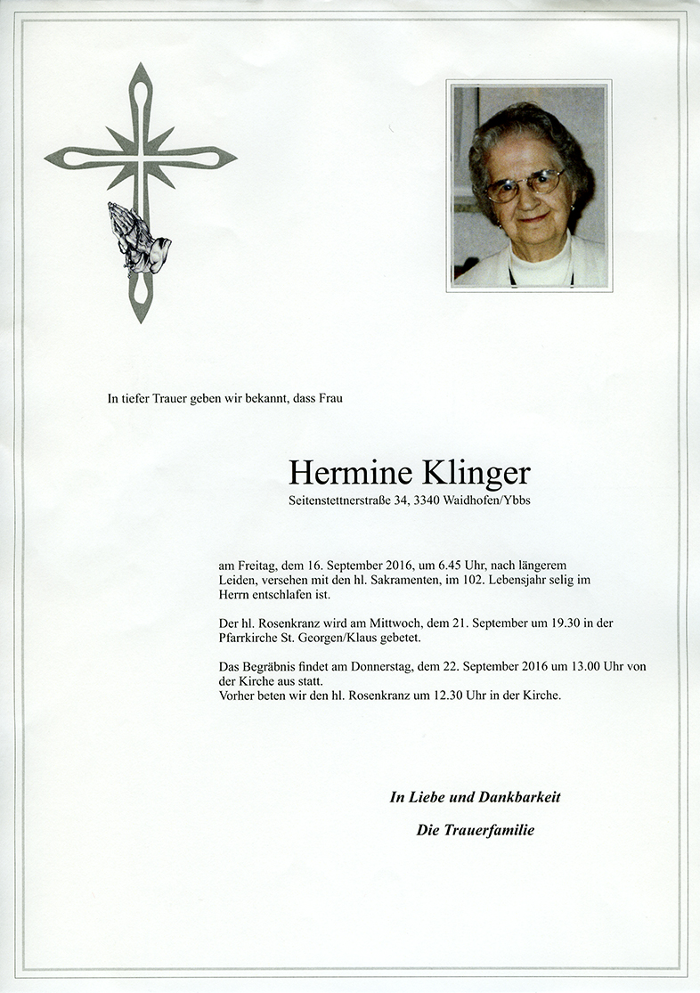 Parte Hermine Klinger