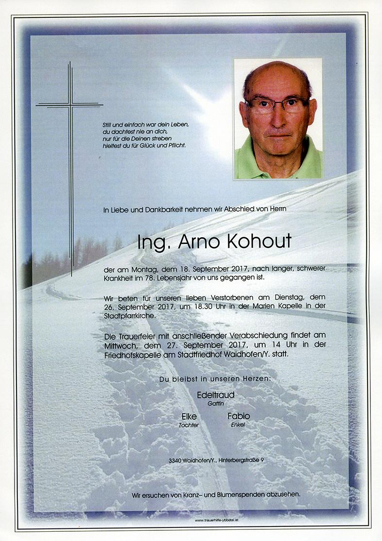 Parte Ing. Arno Kohout