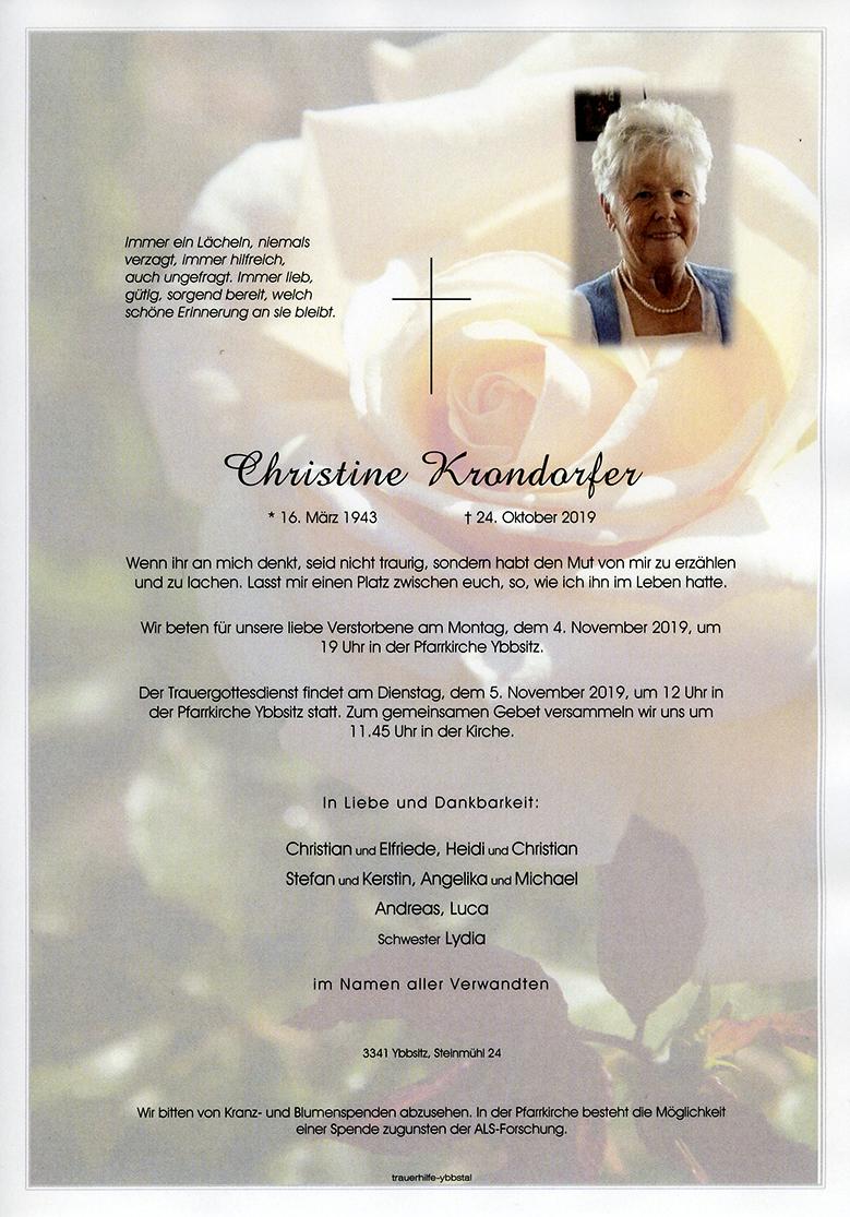 Parte Christine Krondorfer