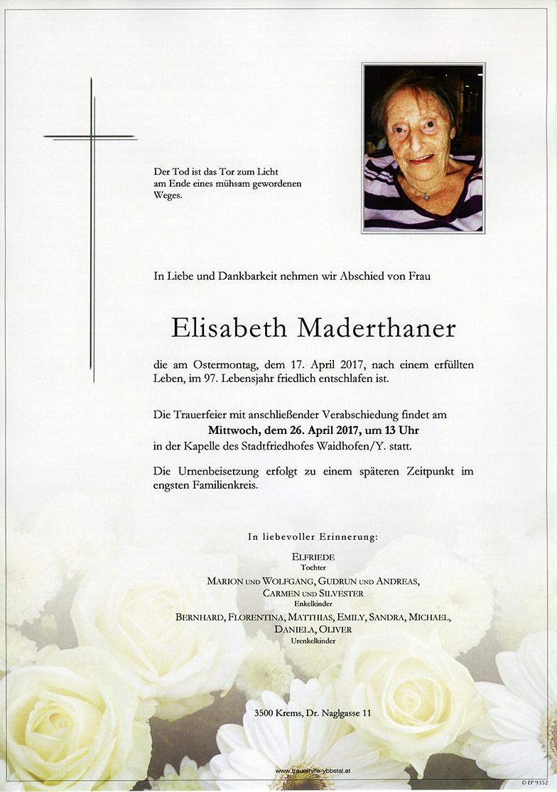 Parte Elisabeth Maderthaner