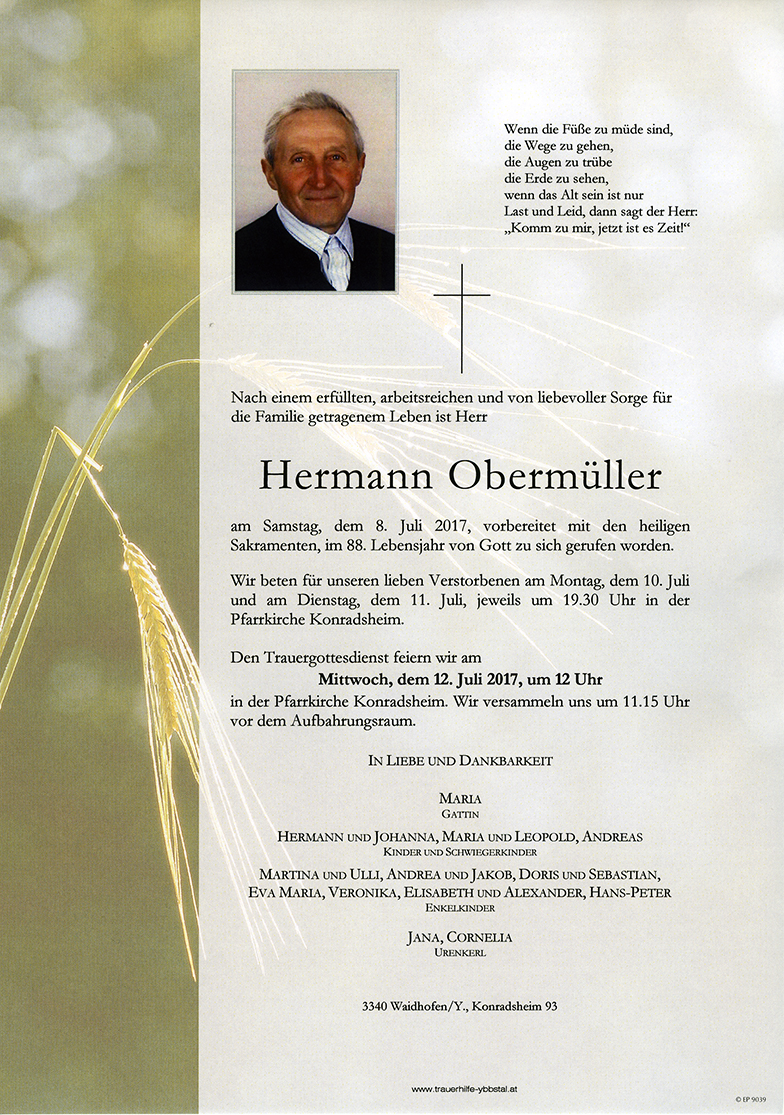 Parte Hermann Obermüller