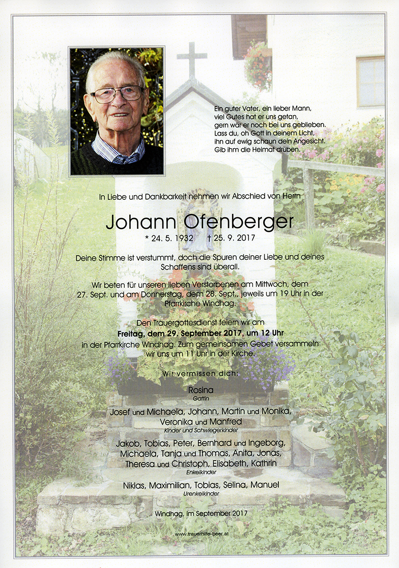 Parte Johann Ofenberger