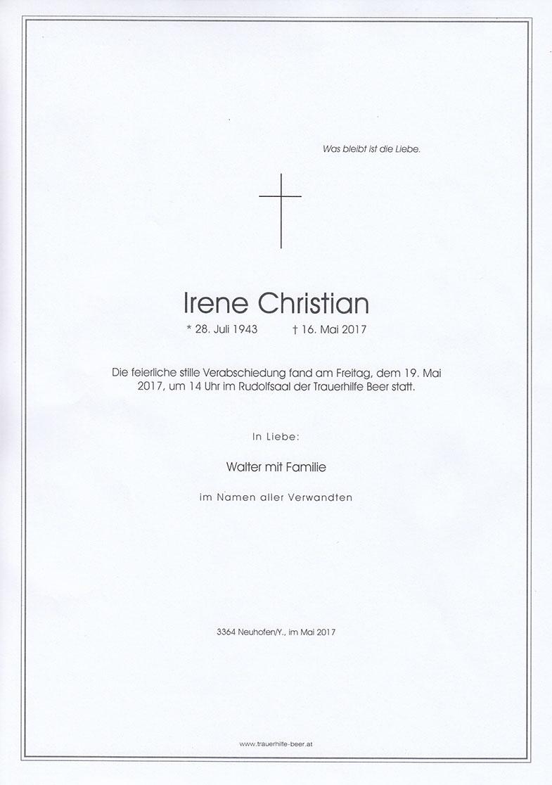 Parte Irene Christian